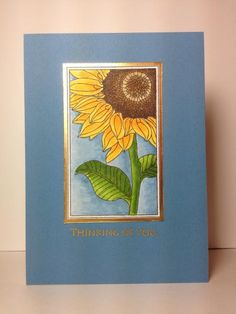 Botanical Blocks: PTI, gold embossing,  by beesmom - Cards and Paper Crafts at Splitcoaststampers