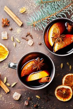 Nothing awakens the soul like the delightful smell of Scandinavian glogg simmering on the stove. Inspired by the classic Norwegian cocktail, our spiced mulled wine is made with Sleigh Ride tea and loaded with heartwarming goodness. Tea Recipes, Cocktail Recipes, Cocktails, Drinks, Beverages, Vegan Gluten Free, Vegan Vegetarian, Davids Tea, Tips