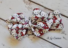Hello Kitty Headwrap Bow Headwrap Hello Kitty by RLeeCouture