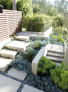 Stunning Low Maintenance Front Yard & Backyard Landscaping Ideas - Page 32 of 73 Terraced Landscaping, Modern Landscaping, Landscaping Tips, Small Garden Design, Garden Landscape Design, Landscape Architecture, Landscape Designs, Architecture Design, Landscaping Around Trees