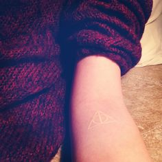 deathly hallows white ink