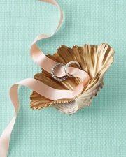 Una concha para los anillos de #boda / Shell #ring pillow