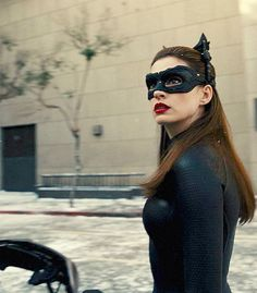 Anne Hathaway as Catwoman/Selina Kyle in TDKR