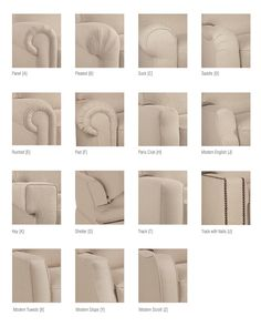 Quick reference: upholstery arm styles