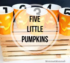 Five Little Pumpkins and other Tot School ideas from MommaAMommaB Toddler Halloween, Halloween Diy, School Themes, School Ideas, Five Little Pumpkins, Unit Plan, Tot School, Easy Diy, The Unit
