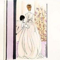 Lovely illustration inspired by our giuseppepapini real bride