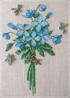 This Pin was discovered by İsm Small Cross Stitch, Cute Cross Stitch, Cross Stitch Heart, Cross Stitch Cards, Cross Stitch Flowers, Cross Stitch Designs, Cross Stitching, Cross Stitch Embroidery, Cross Stitch Patterns