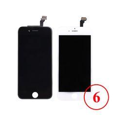 Aaaaa para iphone 6 pantalla lcd táctil digitalizador asamblea pantalla lcd de piezas de repuesto para iphone 6 teléfono negro blanco