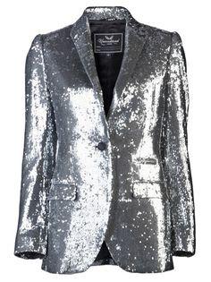 silver sequin blazer