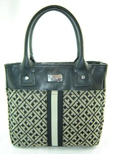 Tommy Hilfiger Small Tommy Tote Handbag Black Multi * Check out this great product.