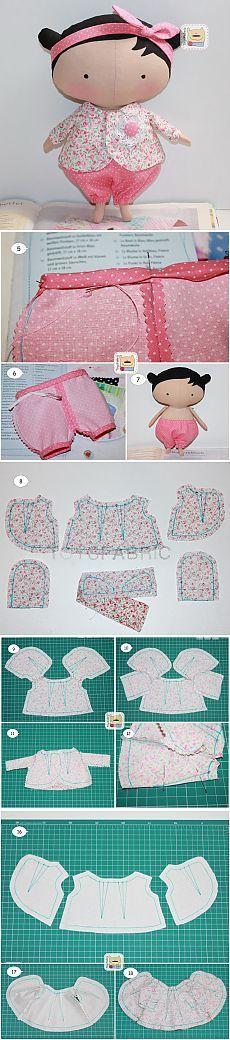 Casa Chervezhonka: coser ropa para Tilda Cutie (continuación)