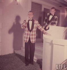 formal menswear plaid tartan dinner jacket party