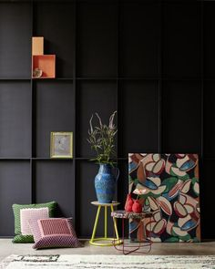 Die Graue Wand: Grau Und Gelb Sehen Edel Aus Schwarze Wände, Graue Wände,