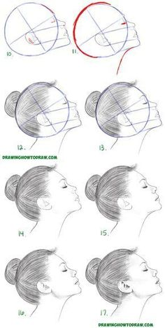 Learn How to Draw a Face from the Side Profile View (Female / Girl / Woman) Simple Steps Drawing Lesson for Beginners #drawingfaces