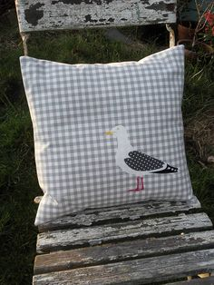 Personalised Cushions and Pillows Nautical Cushions, Modern Cushions, Applique Cushions, Patchwork Cushion, Diy Cushion, Cushion Covers, Cushion Ideas, Living Room Cushions, Uncommon Threads