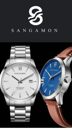 Sangamon Watches was started in America's Heartland by two international business travelers who wanted to combine their passions of history and high-quality watches. #best_watches #black_watch #wood_watch #apple_watch #ladies_watch #smartwatch #dw_watches #smart_watch #digital_watch #trendy_watches #silver_watches #popular_watches_for_women #leonardo_watch #patek_philippe #iwc_watches #applewatch #sangamonwatches #gifts #giftsforhim #watches Trendy Watches, Popular Watches, Cool Watches, Watches For Men, Leonardo Watch, Silver Watches, New Lincoln, Iwc Watches, Gold River