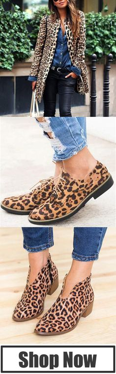 Leopard, never out of style. Mode Outfits, Casual Outfits, Fashion Outfits, Womens Fashion, Fashion Trends, Mode Monochrome, Look Fashion, Winter Fashion, Quoi Porter