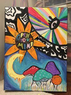 Trippy Painting, Trippy Drawings, Art Drawings, Hippie Art, Drawing Board, Brain Food, Graffiti Art, Bff, Surrealism