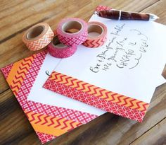 Projects: 20 Ideas for Washi Tape (Craft Gossip) Diy Washi Tape Decor, Diy Washi Tape Projects, Washi Tape Uses, Washi Tape Cards, Tape Crafts, Masking Tape, Duct Tape, Washi Tapes, Craft Projects