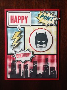 Stampin' Up! Calling All Heroes birthday - Batman. Tammyreeves.stampinup.net