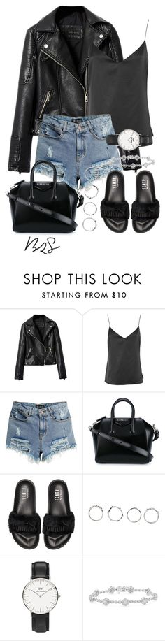 """#730"" by blendingtwostyles ❤ liked on Polyvore featuring L'Agence, Givenchy, Puma, Boohoo and Daniel Wellington"