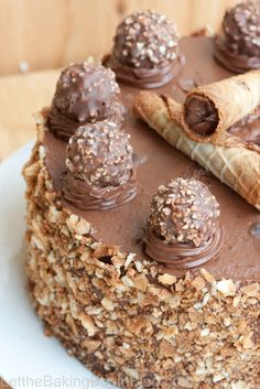 Ferrero Rocher Chocolate Cake-looks crazy decadent, special occasion cake