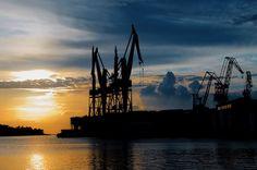 harbour cranes (3) by Rudi (Rudolf) Moerkl