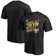 Pittsburgh Penguins Fanatics Branded 2017 Stanley Cup Playoffs Participant Big & Tall Crease Slogan T-Shirt - Black