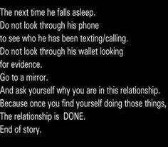 Relationship advice.