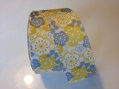 Yellow and Grey Ribbon 1.5 inches x 3 yards. $4.00, via Etsy.