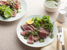 For a new twist on two old favorites, try Grilled Tuna With Basil Pesto. #GrillingCentral