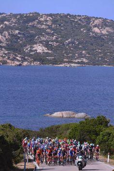 100th Tour of Italy 2017 / Stage 1 Peloton / Mediterranean Sea / Landscape / Alghero Olbia / Giro /