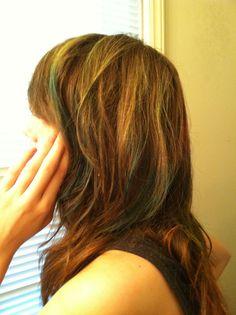 diy green ombre hair tutorial