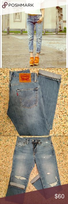"""NWOT Levi's 511 Jean Fall must-have jeans. Med/light wash with some distressing. These are a men's size 29 so they run small. (For reference I'm a size women's 27 and I wear a men's size 30.) waist/hip opening: 14 1/2"""" flat (so reference your hip measurement.) inseam: 30"""". Zip-fly. Levi's Jeans"""