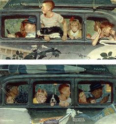 Going and Coming, Norman Rockwell, 1947
