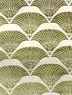 Gold leaf cleos breeze fabric - gold leaf motif vintage, pattern in art, go Motifs Art Nouveau, Design Art Nouveau, Motif Art Deco, Art Design, Art Nouveau Pattern, Lotus Design, Interior Design, Motifs Textiles, Textile Patterns