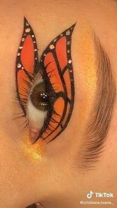 Edgy Makeup, Makeup Eye Looks, Eye Makeup Art, Crazy Makeup, Eyeshadow Makeup, Makeup Eyes, Fire Makeup, Drugstore Makeup, Creative Eye Makeup