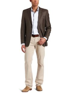 Free Shipping Tommy Hilfiger Men's 2 Button Side Vent Sharkskin Coat,  Brown, 38 S Tommy Hilfiger