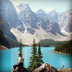 Moraine Lake in Banff National Park, #Alberta #Canada