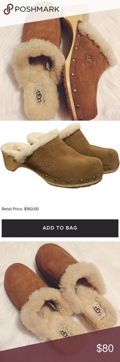 """UGG Chestnut """"Kallie"""" Mules ✖️ UGG Chestnut """"Kalie"""" Mules ✖️ Excellent Condition  ✖️ Only Worn Indoor A Couple Times ✖️ Narrow/Fits 6.5-7 ✖️ No Scuffs No Marks ✖️ Retails $160 UGG Shoes Mules & Clogs"""
