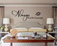 Vinyl Wall Decal Sticker- Always Kiss Me Goodnight Lips -Medium size | WondrousWallArt - Furnishings on ArtFire