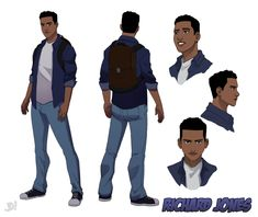 Character Turnaround by JoeMDavis on DeviantArt - Miriam Homepages Boy Character, Character Creation, Character Concept, Male Character Design, Fantasy Character, Character Design Animation, Character Design References, Character Turnaround, Black Anime Characters