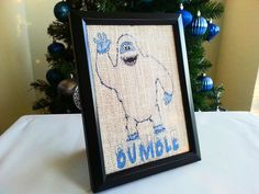 Bumble the Abominable Snowman 5x7 Framed by NOLACraftsbyDesign