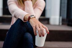 Woman's Wide Leather Fit Bit Bracelet  Silver by CreekReflections