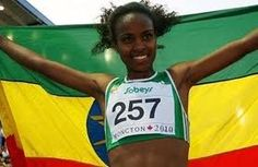 Genzebe Dibaba (born February 8, 1991 in Bekoji) is an Ethiopian long-distance runner. She is the sister of 3 times Olympic champion Tirunesh Dibaba and Olympic silver medallist Ejegayehu Dibaba, and the cousin of former Olympic champion Derartu Tulu