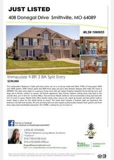 SOLD IN 12 HOURS! New Listing In Smithville MO MLS 1990655 Leslie Hogan  Real Estate. Better Homes And GardensHome And GardenKansas ...