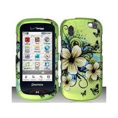Pantech Hotshot 8992 (Verizon) Hawaiian Flowers Design Hard Case Snap On Protector Cover + Free Magic Soil Crystal Gift
