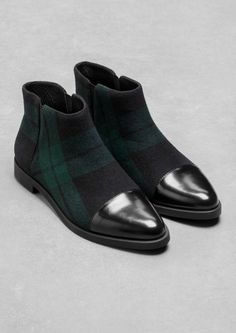 & Other Stories | Checkered Ankle Boots