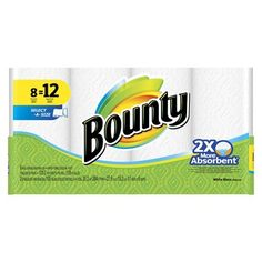 16-Count Bounty Giant Roll Paper Towels + $5 Target Gift Card $20 + Free Shipping