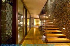 AMBIENTES CON PAREDES DE PIEDRAS : Diseño y Decoración del Hogar Design and Decoration